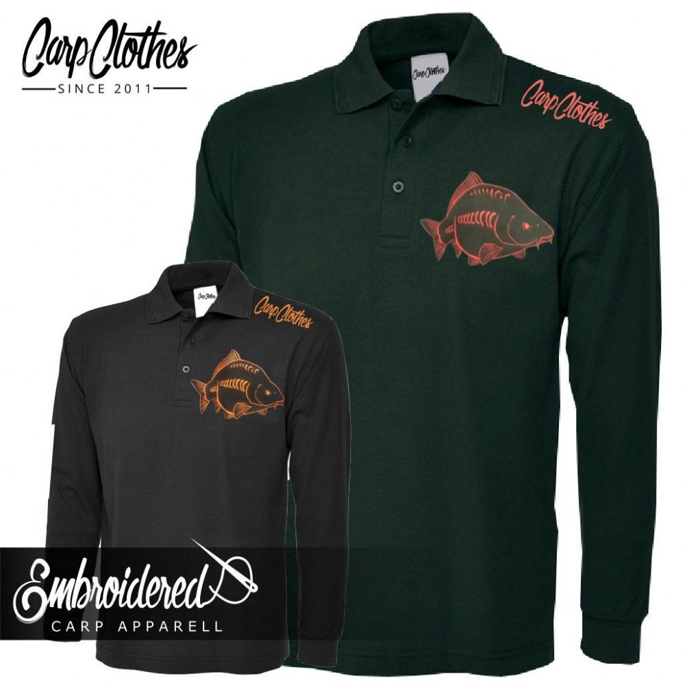 026 EMBROIDERED CARP LS POLO